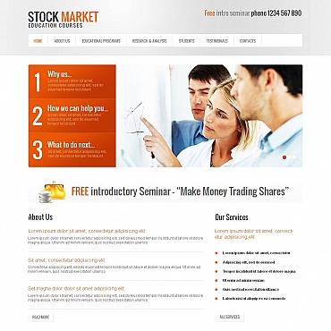 Business School Moto CMS HTML Template