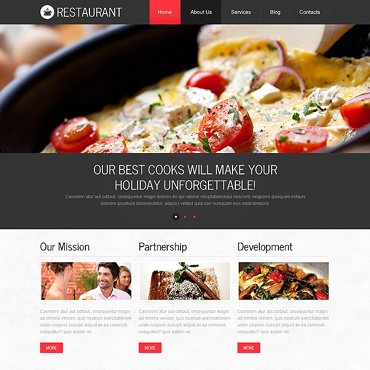 Cafe and Restaurant Responsive Drupal Template