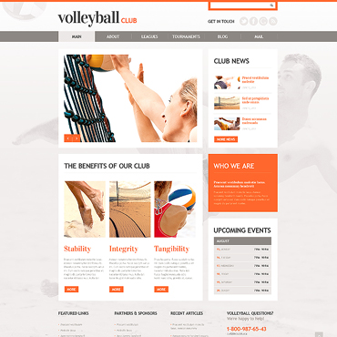 Volleyball Responsive WordPress Theme
