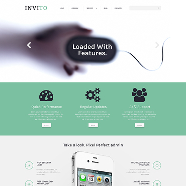Mobile Company Responsive WordPress Theme