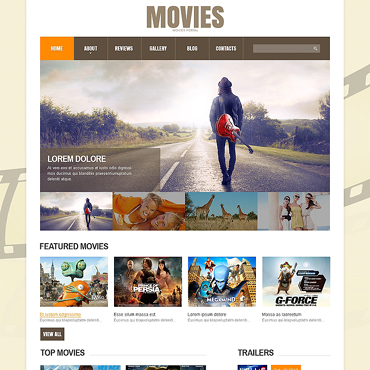 Movie Responsive Joomla Template