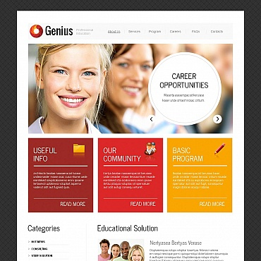 Business School Moto CMS HTML Template