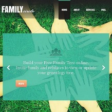 Family Center Facebook HTML CMS Template