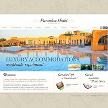 Hotels Flash CMS Template