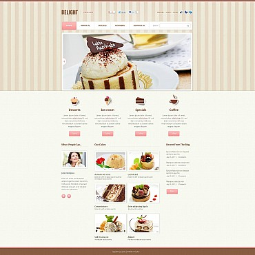 Cafe Flash CMS Template