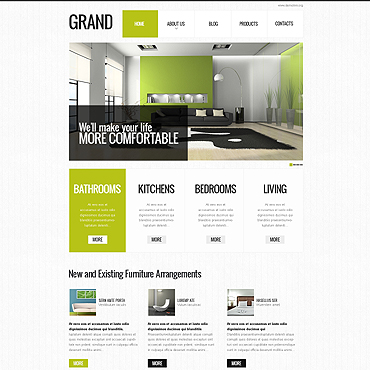 Special Interior Design Drupal Template #45763