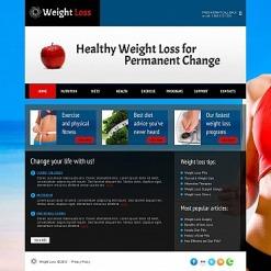 Weight Loss Moto CMS HTML Template