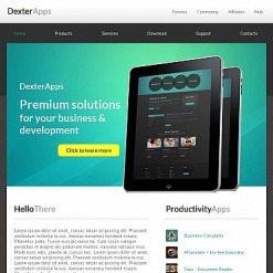 Software Facebook HTML CMS Template