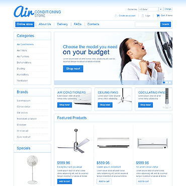 Air Conditioning VirtueMart Template