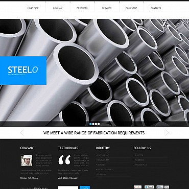 Steelworks Flash CMS Template