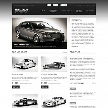 Car Rental Flash CMS Template