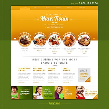 Cafe Responsive WordPress Theme