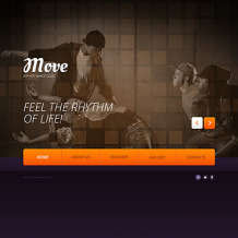 Dance Studio Website Template