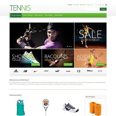 Responsive Tennis Store PrestaShop Theme #46011