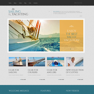 Yachting Responsive WordPress Theme #46019