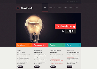 Lighting & Electricity Responsive Joomla Template