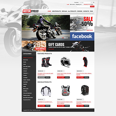 Bike Shop ZenCart Template