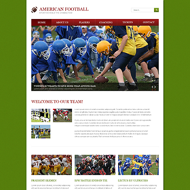 Football Responsive Website Template