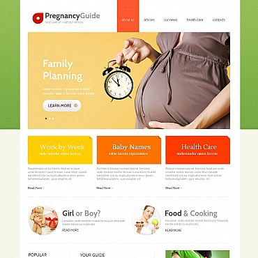 Pregnancy Moto CMS HTML Template