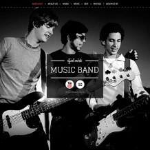 Music Band Wix Website Template