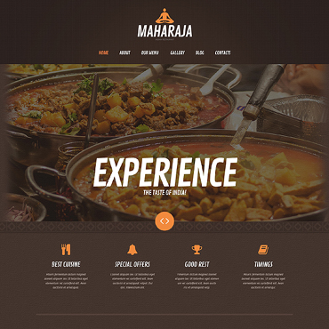 Indian Restaurant Responsive WordPress Theme
