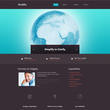 Accounting Website Responsive Website Template