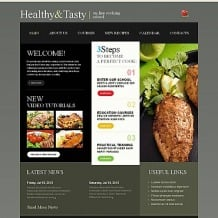 Cooking School Moto CMS HTML Template