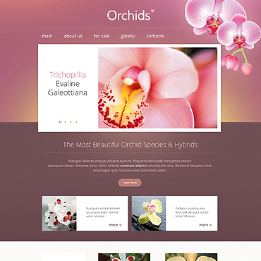 Flowers Responsive Website Template