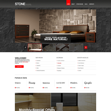 Flooring Responsive Website Template #46519