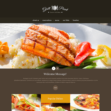 BBQ Restaurant Responsive Website Template