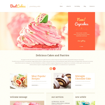 Sweet Shop Responsive WordPress Theme