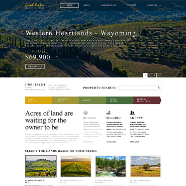 Land Broker Responsive Website Template