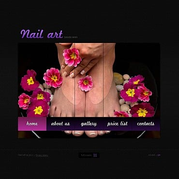 Nail Salon Flash CMS Template