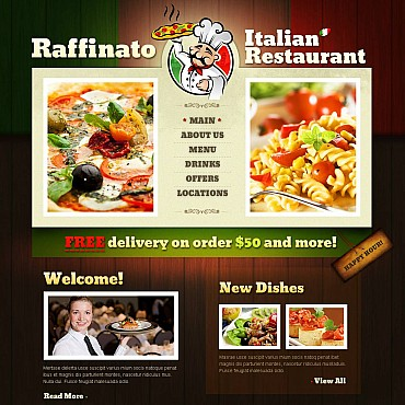 Italian Restaurant Flash CMS Template