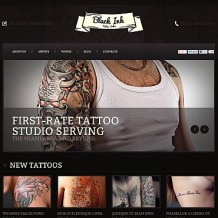 Tattoo Salon Flash CMS Template