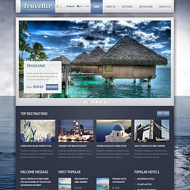Travel Guide Flash CMS Template