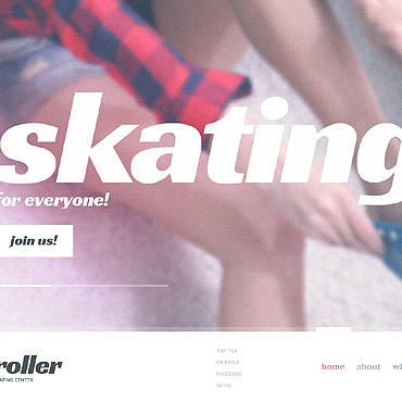 Skating Website Template
