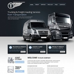 Trucking Moto CMS HTML Template