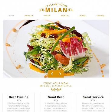 Italian Restaurant Facebook HTML CMS Template
