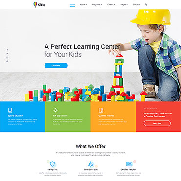 Primary School Responsive Website Template #46779