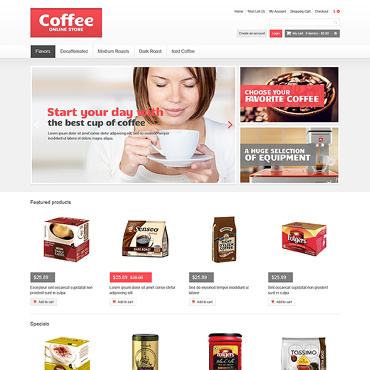 Coffee Shop Responsive OpenCart Template