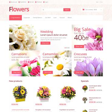 Flower Shop Responsive Magento Theme