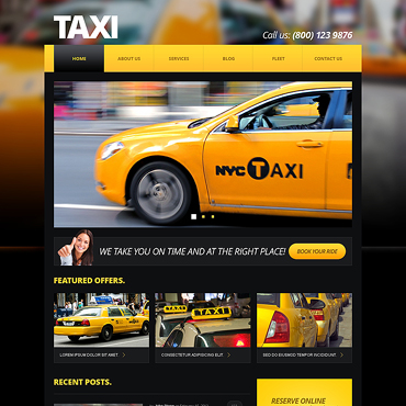 Taxi Center Joomla Template #46839