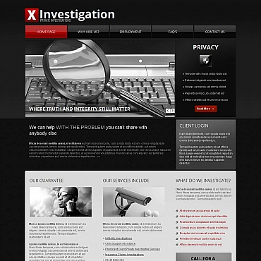 Private Investigator Moto CMS HTML Template