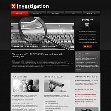 Private Investigator Moto CMS HTML Template #46859