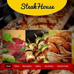 Steakhouse Facebook HTML CMS Template