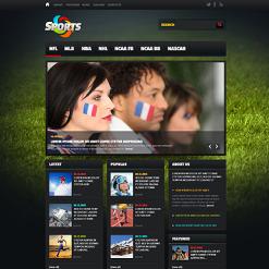 Sports News Website Template