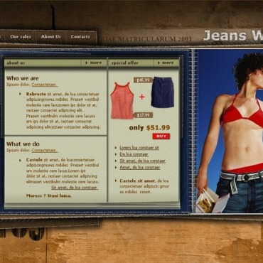 Jeans Flash Template