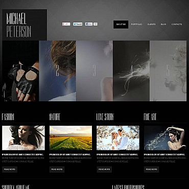 Photographer Portfolio Flash CMS Template #47143