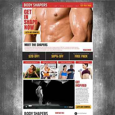 Bodybuilding Wix Website Template